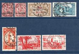 Colonies Françaises Maroc 1902/1947  Oblitérations Variées   1 €   (cote ?  7 Valeurs) - Used Stamps