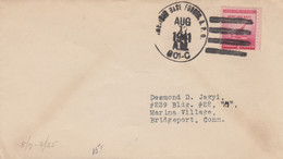 COVER. US ARMY POSTAL SERVICE. 17 8 45. APO. 801-C - Cartas