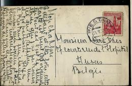 Carte Fabriqué Avec Des Timbres Collé Obl. PIESTIAN  21/05/37 - Briefe U. Dokumente