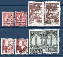 Colonies Françaises Maroc 1902/1951  Variétés D'impression   0,80 €   (cote ?  8 Valeurs) - Used Stamps