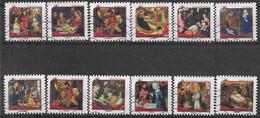 2011 FRANCE Adhesif 621-32 Oblitérés, Noël, Tableaux,  Série Complète - Adhésifs (autocollants)