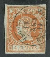 Espagne. Isabel II 4 Cuartos , Matasello Montblanch Tarragona - Usados