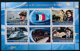 NB - [401107]TB//**/Mnh-Guinée-Bissau 2008 - 50 Ans De Convention De Rome, Charles De Gaulle, Eugene Delacroix, TGV, Pie - Treni