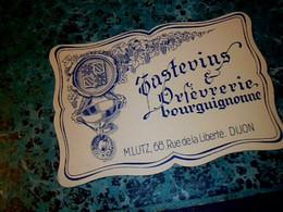 Carte De Visite  L'orfèvrerie  Bourguignonne Fabrique De Tastevin, M. Lutz à Dijon - Cartes De Visite
