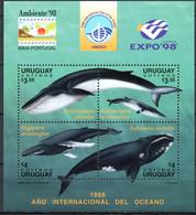 Uruguay 1998 MiNr. 2355 - 2358 (Block 85) Marine Mammals Whales IBEROAMERICANA '98 Exhibitions 1bl MNH** 6,50 € - Uruguay