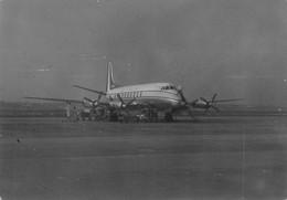 """1964""""FOTO-AEREO DOUGLAS DC6 COMMERCIAL QUADRIMOTORE ELICA ALITALIA FIUMICINO  1964"""" Misure(7.0x10.0) - Aviazione"""