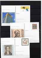 BRD, 2000/2001, 3 Ganzsachen-Karten Mit Michel 2089/1981/2086, Postfrisch/**/MNH, EXPO/Gutenberg/J.Müller - Postales Ilustrados - Nuevos