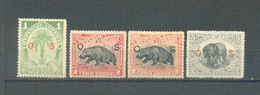 Liberia 1900  MLH Service Stamps - Liberia
