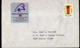 Argentina - 1989 - Lettre - Circulé - Taux Interne Jusqu'à 10 Grs - PhilexFrance '89 - A1RR2 - Lettres & Documents