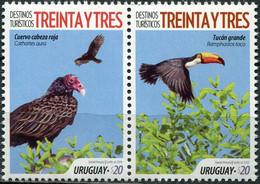Uruguay 2018 MiNr. 3618 - 3619  Birds  Turkey Vulture Toco Toucan 2v MNH**   4,00 € - Uruguay