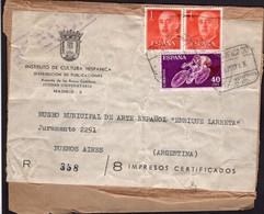 España - 1963 - Frente Carta - Via Aerea - Impresos - Francisco Franco - A1RR2 - 1961-70 Cartas