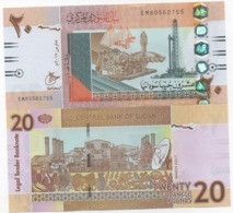 Sudan North - 20 Pounds 2017 UNC Lemberg-Zp - Sudan