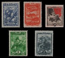 Russia / Sowjetunion 1943 - Mi-Nr. 885-889 ** - MNH - Komsomol - Unused Stamps