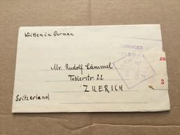 30341 Australien 1941 Kriegsgefangenenbrief Aus Einem Interniertenlager In Victoria Mit Zensur Nach Zürich - Briefe U. Dokumente