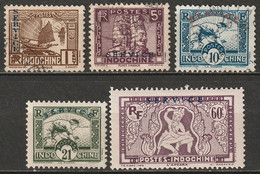Indochina 1933 Sc O1//O14 Yt 1//14 Official Selection Used/MNG - Autres