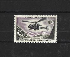 FRANCE 1957-59 - YT PA N°37 NEUF AVEC CHARNIERE * - 1927-1959 Ungebraucht