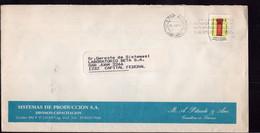 Argentina - 1989 - Lettre - Circulé - Taux Interne Jusqu'à 10 Grs - Sistemas De Produccion SA - A1RR2 - Lettres & Documents