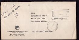 Argentina - 1988 - Lettre - Certificada - Cachet Spécial - Yacimientos Petroliferos Fiscales - A1RR2 - Lettres & Documents