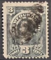 NEWFOUNDLAND 1890 - Canceled - Sc# 60 - 3c - 1865-1902