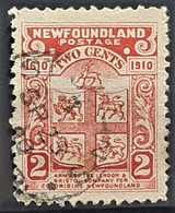 NEWFOUNDLAND 1910 - Canceled - Sc# 88 - 2c - 1908-1947