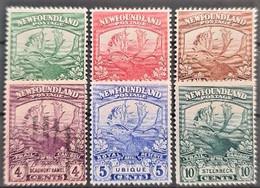 NEWFOUNDLAND 1919 - MNG, Canceled - Sc# 115, 116, 117, 118, 119, 122 - Caribou - 1908-1947