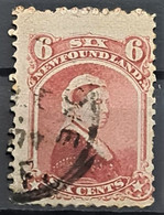 NEWFOUNDLAND 1870 - Canceled - Sc# 35 - 6c - 1865-1902