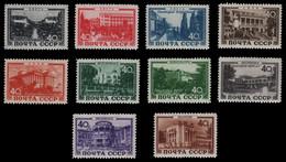 Russia / Sowjetunion 1949 - Mi-Nr. 1371-1380 ** - MNH - Kurorte / Sanatoria - Unused Stamps