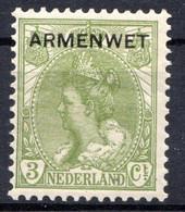 PAYS-BAS - (Royaume) - 1918-19 - Service - N° 5 - 3 C. Vert_olive - (Surchargé : ARMEMENT) - Dienstpost