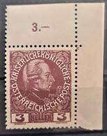 AUSTRIA 1908 - MNH - ANK 141 - 3h - Nuovi