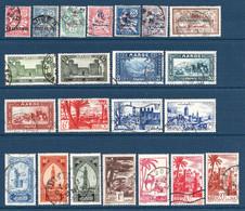 Colonies Françaises Maroc 1902/1955  35 Timbres Différents   1,50 €   (cote 18,80 €  35 Valeurs) - Used Stamps