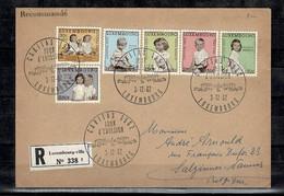Luxembourg - 1962  Recommandé Vers Namur - Timbres 589 à 594 Caritas -Oblitération 1er Jour - - Briefe U. Dokumente