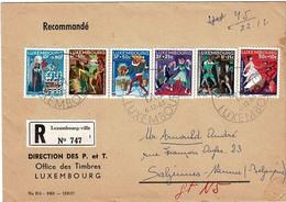 Luxembourg - 1965 Recommandé Vers Namur - Timbres 672 à 677 Caritas - Oblitération 1er Jour - - Briefe U. Dokumente