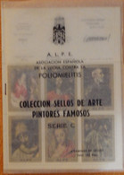 España Colecccion Sellos Arte Pintores Famosos Serie C - Asociacion Espanola Lucha Contra La Poliomielitis - 24 Viñetas - Beneficiencia (Sellos De)