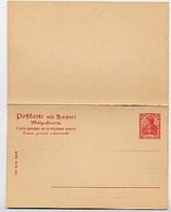 DR P62 Antwort-Postkarte 1902  Kat. 13,00 € - Stamped Stationery