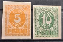 ESTONIA 1919 - MNL - Sc# 29, 30 - Estonie