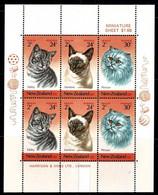 New Zealand 1983 Health - Cats Minisheet MNH - Ongebruikt