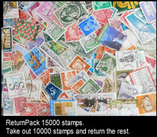 ReturnPack EUROPE WEST 15000 STAMPS Off Paper Kiloware MissionBag Take Out 5000 Stamps And Return The Rest. All For +€20 - Lots & Kiloware (mixtures) - Min. 1000 Stamps