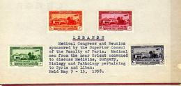 Grand-Liban  (1938) -  PA  Congres Medical - Neufs* - MH - Non Classés