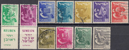 ISRAELE - 1955/1956 - Lotto Di 11 Valori Usati: Yvert 97/99 E 101/108. - Oblitérés (sans Tabs)