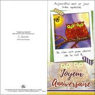 CPM - Bon Anniversaire - Chouettes - Pájaros