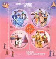 INDIA 2020 Covid-19 Corona Warriors M/S 10 Nos. MINIATURE SHEETS MNH - Nuevos