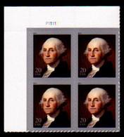 USA, 2011, Scott #4504, George Washington, 20c, Plate Block. MNH, VF - Nuevos