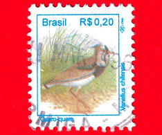 BRASILE - Usato - 1994 - Uccelli Brasiliani - Pavoncella  - Birds - Quero-quero - Vanellus Chilensis -  0.20 - Usados
