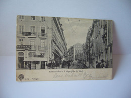 LISBOA Lisbonne (en Portugais : Lisboa /liʒˈboɐ/ PORTUGAL RUA DE S.ROQUE RUE ST ROCH CPA 1905 - Lisboa