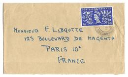 GRANDE BRETAGNE - COURONNEMENT DE LA REINE ELISABETH II - LETTRE POUR LA FRANCE, VOIR LES SCANNERS - Covers & Documents