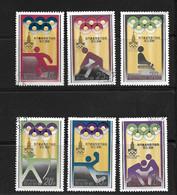 COREE DU NORD 1979 JO MOSCOU  YVERT N°1548/53  OBLITERES/CTO - Sommer 1980: Moskau