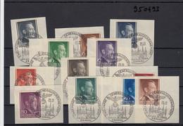 GG Generalgouvernement MiNr. 71-82, Gestempelte Briefstücke Mit Sonderstempel - Occupation 1938-45