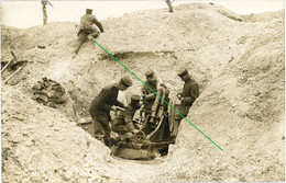 14-18.WWI Fotokarte- Deutsche Soldaten . Minenwerfer Stellung Kampf Fight - Ripont Champagne Marne - 1914-18