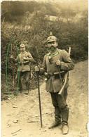 14-18.WWI Fotokarte- Deutsche Soldaten . Portrait Regiment Nr.8 Gebirgsstock - 1914-18