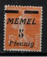 MEMEL       N°  YVERT  :      45   NEUF SANS GOMME    ( SG  1/02 ) - Unused Stamps